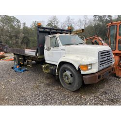 1998 FORD F800 Flatbed Dump Truck