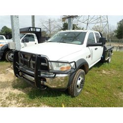 2012 DODGE RAM 5500HD Flatbed Truck