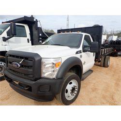 2013 FORD F550 Flatbed Dump Truck