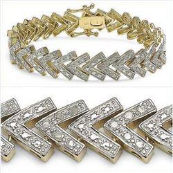 Plated 18KT Yellow Gold 0.63ctw Diamond Bracelet