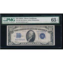 1934A $10 Silver Certificate PMG 65EPQ