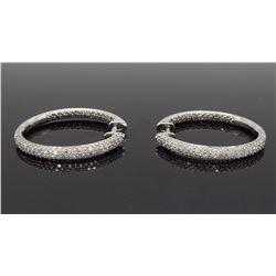 14KT White Gold 0.75ctw Diamond Earrings