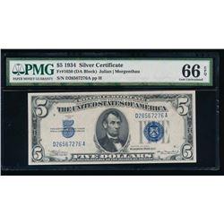 1934 $5 Silver Certificate PMG 66EPQ
