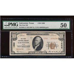 1929 $10 Galveston National Bank Note PMG 50