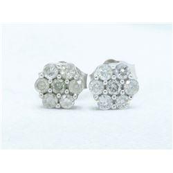 10KT White Gold 0.25ctw Diamond Earrings