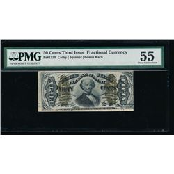 50 Cent Third Issue Fractional Note PMG 55