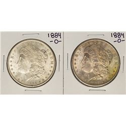 Lot of (2) 1884-O $1 Morgan Silver Dollar Coins