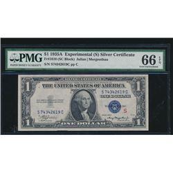 1935A $1 Experimental Silver Certificate PMG 66EPQ