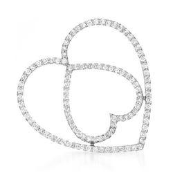 18k White Gold 0.85CTW Diamond Pendant, (I1/H-I)