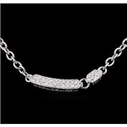 1.40 ctw Diamond Necklace - 18KT White Gold