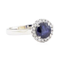 1.73 ctw Sapphire and Diamond Ring - 14KT White Gold