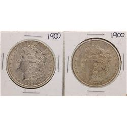 Lot of (2) 1900 $1 Morgan Silver Dollar Coins