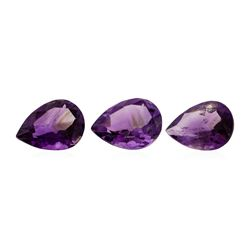 22.91 ctw.Natural Pear Cut Amethyst Parcel of Three