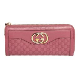 Gucci Pink Guccissima Leather Zippy Wallet