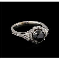2.50 ctw Black Diamond Ring - 14KT White Gold