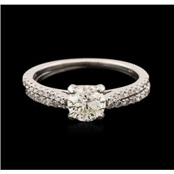 14-18KT White Gold 1.08 ctw Diamond Wedding Ring Set