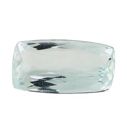 3.03 ct.Natural Rectangle Cushion Cut Aquamarine