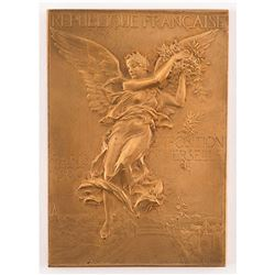 Paris 1900 Summer Olympics Bronze Winner's Medal for Firefighting