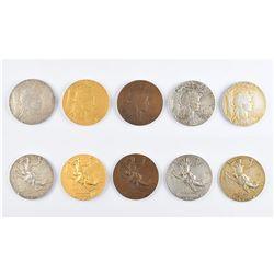 Paris 1900 Exposition Universelle Set of (5) Medals