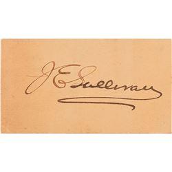 James Edward Sullivan Signature