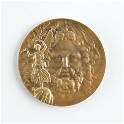 Athens 1906 Intercalated Summer Olympics Gold Winner's Medal with Case