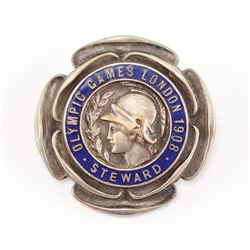 London 1908 Summer Olympics Steward's Badge