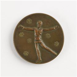 St. Moritz 1928 Winter Olympics Bronze Winner's Medal with Case