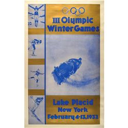 Lake Placid 1932 Winter Olympics Poster and Group of (5) Programs