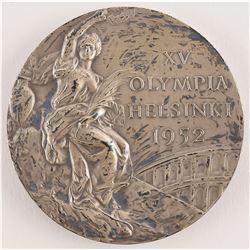 Helsinki 1952 Summer Olympics Silver Winner's Medal with Case