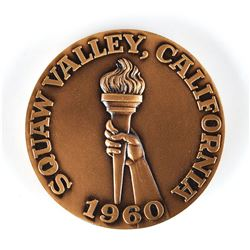 Squaw Valley 1960 Winter Olympics Participation Medal with Case