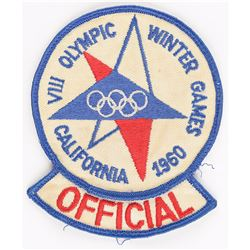 Squaw Valley 1960 Winter Olympics Official's Patch