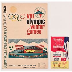 Squaw Valley 1960 Winter Olympics Ticket and Program