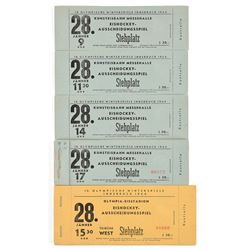 Innsbruck 1964 Winter Olympics Ice Hockey Ticket Books