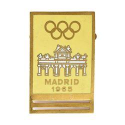Madrid 1965 International Olympic Committee Badge