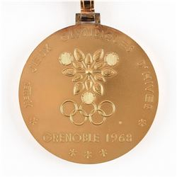 Grenoble 1968 Winter Olympics Gold Winner's Medal with Case