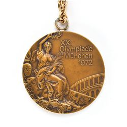 Munich 1972 Summer Olympics Bronze Winner's Medal with Case