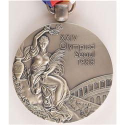 Seoul 1988 Summer Olympics Silver Winner's Medal