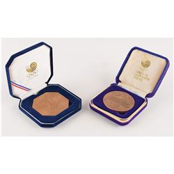 Seoul 1988 Summer Olympics Bronze Participation Medal and Press Medal with Cases