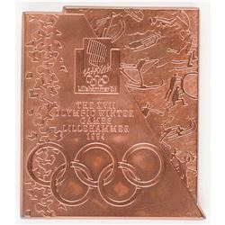 Lillehammer 1994 Winter Olympics Copper Participation Medal