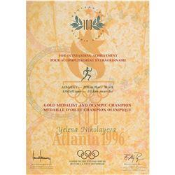 Atlanta 1996 Summer Olympics Winner's Diploma