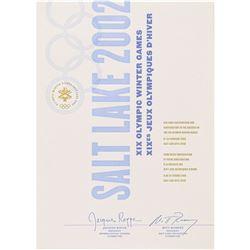 Salt Lake City 2002 Winter Olympics Participation Diploma