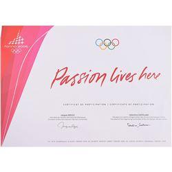 Torino 2006 Winter Olympics Participation Diploma