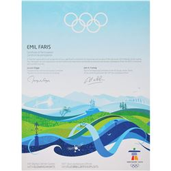 Vancouver 2010 Winter Olympics Participation Diploma