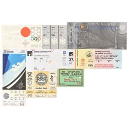 Winter Olympics Ticket Collection