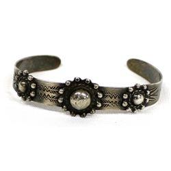 Vintage Navajo Coin Silver Route 66 Bracelet