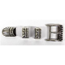 Taxco Sterling Buckle & Sterling Guards & End Tip