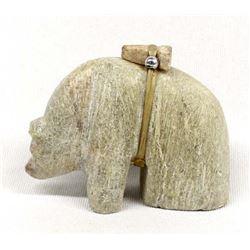Zuni Carved Alabaster Bear Fetish