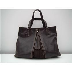 LONGCHAMP Brown Leather Handbag Purse