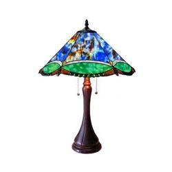 "Tiffany-style 2 Light Victorian Table Lamp 17"" Shade"