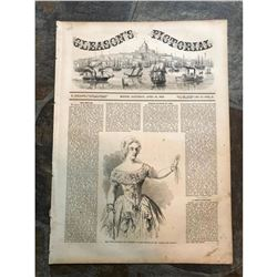 19thc Illustrated Newpaper, Gleason's Pictorial, Boston